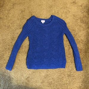 Justice sweater cozy blue size 10
